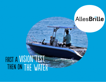 Vision test for a sports boat driver's license