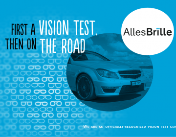 Vision test for a driver's license